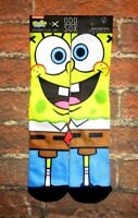 MENS ODD SOX SPONGEBOB SQUAREPANTS CREW  SOCKS ONE SIZE