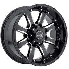 "20"" BLACK RHINO SIERRA BLACK MILLED WHEELS RIMS 20x10 5x150 0et"