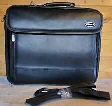 "TARGUS faux leather Office Case / Bag with 18"" laptop space in black colour"