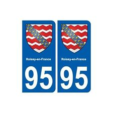95 Roissy-en-France blason autocollant plaque stickers ville droits