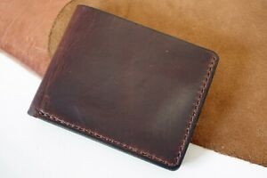 Horween Chromexcel Horsehide Distressed Brown Men's Leather Wallet Bifold