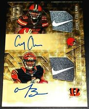 #1/1 Rc Nike Swoosh Jersey Tyler Boyd Auto Rookie Signed Corey Coleman Autograph
