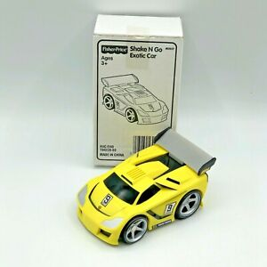 Fisher Price Shake N Go Exotic Racer Car 2005 Mattel Yellow #9 Box Instructions