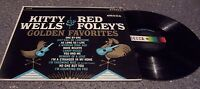"""Kitty Wells & Red Foley """"Golden Favorites"""" DECCA COUNTRY LP #DL-74109"""
