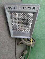 Vintage Webcor Art Deco Metal Reel Tape Wire Recorder Mic Radio Microphone Works