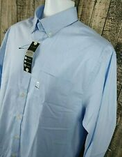 David Taylor Mens Oxford Dress Button Shirt Sz 15.5 32/33 Blue Cotton Blend NEW