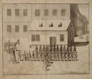 Wache Polizei Feldjäger Corps Garde Spanischer Bock Straf-Esel Holzpferd Pranger