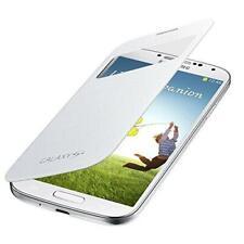 For Samsung Galaxy S4 I9500 Premium S-View Flip Cover  White Smart Case