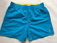 Polo Ralph Lauren hawaiano Shorts De Baño Azul Cielo Profundo Talla M