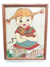 VINTAGE OLD HAND PAINTING PIPPI LONGSTOCKING ART ANIMATION