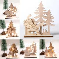 en bois Sculpture en bois Buck Décoration de table Décoration de Noël Père Noël