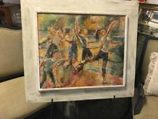 EDNA WOLFF MASCHGAN (1907-2001) OIL ON BOARD..DANCERS..C1950. 2004 PRICE USD1500