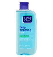 Clean & Clear Deep Cleansing Lotion For Sensitive Skin 200ml**FREE P&P