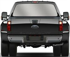Honey Steel Comb Silver Rear Window Graphic Decal for Truck SUV Vans