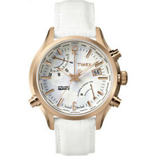 OROLOGIO DONNA TIMEX,INTELLIGENT IQ WORLD TIME,BIANCO,ORO ROSA,RETROILLUMINATO