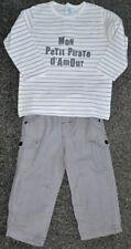 GEMO baby Ensemble 2 pièces : jean et pull garçon 18 mois (81 cm)