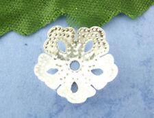 Grano de Flor de Plata Grande 200 Tapas ~ 14 mm ~ Perlas Cristales Pulseras ~ ~ (82B), Reino Unido