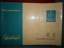 Mercedes 1626 - 1632 - 1719 - 1919 - 1926 - 1932 : Notice d'entretien 1979