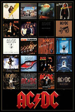 AC/DC Discography Music Poster Print AC DC Angus Young Brian Johnson New 24x36