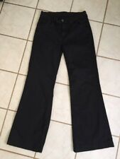 7 For All Mankind Women's Black GINGER Flared Wide Leg Retro Jeans Sz 27