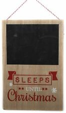 20 X 30 Handcrafted Wooden Hanging Chalkboard Sleeps Until Christmas Sign Plaque