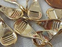 12 SIGN MONET EARRING CLIP BACKS LOT 22x9mm VTG REPAIR JEWELRY FINDINGS PARTS