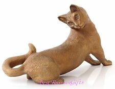 Russian Blue Cat Bronze Figurine Russian Art Animal Sculpture Statue 5.5""