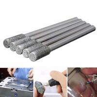 5pcs Diamond Grinding Burr Drill Bits Set 4mm Grinding Diameter For Rotary Tool