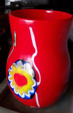 Murano Hand Blown Glass Vase 7 inches tall