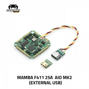 MAMBA F411AIO 25A MK2 4S BLHELI_S ESC External USB 26mm/M2 FC FPV Toothpick BEC