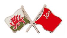 USSR Soviet Union Russia Flag & Wales Flag Friendship Courtesy Pin Badge