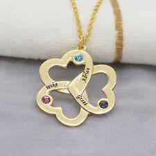 Halskette Herz mit Gravur graviert Familie Namenskette personalisiert Geschenk