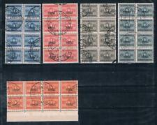 Somalia Italiana Postage Due 1934 Sc#J43,J44,J46-7,J49 Block Lot Italy Segnatase