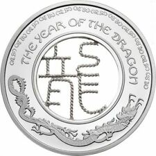 Fiji 2012 1$ Lunar Year of the DRAGON FILIGREE Proof Silver Proof Coin