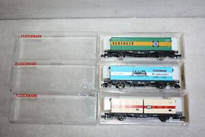 Fleischmann piccolo Wagenset 8245 8819 K 8234 Containertragwagen DB Schenker