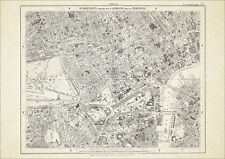 Old map London 1877 #10 repro - Westminster, Mayfair, Oxford St, Hyde Park, etc