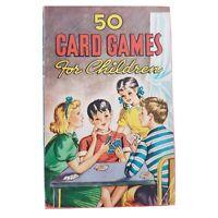 50 Card Games for Children Original Vintage 1946 Paperback Family Fun