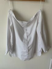 Ladies River Island Bardot Off The Shoulder White Size 16 Top
