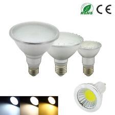 E27 MR16 GU10 LED Luz 6W9W12W14W24W30W Proyector Bombilla PAR20/30/PAR38 frío cálido