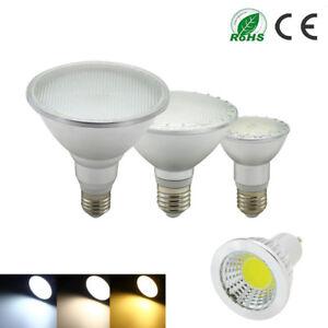 E27 MR16 GU10 LED Light 6W9W12W14W24W30W Spotlight Bulb PAR20/30/PAR38 Cool Warm