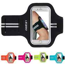 """Up to 5"""" Phone Slim Armbands Sports Gym Running Apple iPhone 8 7 6 6S Galaxy S6"""