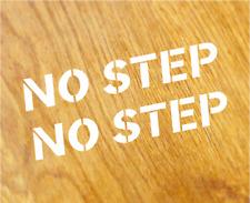 NO STEP 2x Aufkleber Sticker SET Decal Tuning Motorsport Race Spoiler Lip Carbon