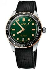 New Oris Divers Sixty-Five Green Dial Bronze Bezel Mens Watch 73377074357RS