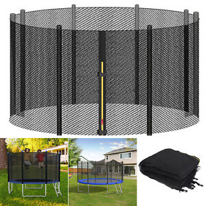 Trampoline Safety Net For 10/12/14/16 FT Round Trampoline With Zipper And Buckle