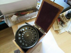 """excellent vintage walker bampton fosters ashbourne trout fly fishing reel 3.5"""""""