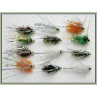 Conehead Bullets Lures Trout Flies 12 Pack Olive /& Black size 10 Fishing Flies