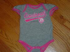 New Cincinnati Bengals Nfl Football Creeper Infant Baby Girl 3/6 Mo Gray Pink