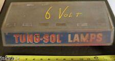 Vintage TUNG-SOL BULB DISPLAY CASE w/ Auto BULBS Tung Sol garage service station