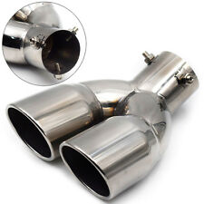 "61mm/2.4"" Stainless Steel Auto Car Rear Dual Exhaust Pipe Tail Muffler Tip Great"