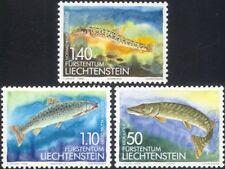 Liechtenstein 1989 Freshwater Fish/Pike/Trout/Loach/Nature/Wildlife 3v set L1004